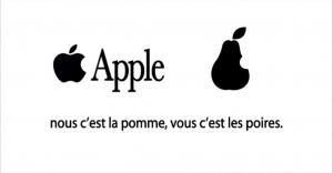 La pomme d'Apple et les poires