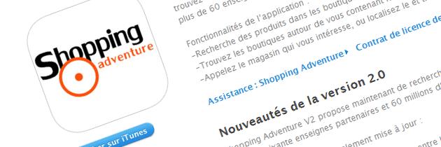 Application Shopping Adventure V2