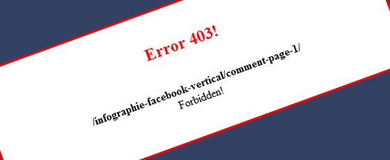 Erreur 403 : répertoire interdit