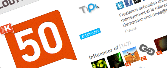 Booster son Klout