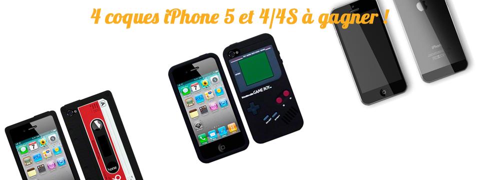 Concours : 4 coques iPhone 5 et 4/4S spéciales geek