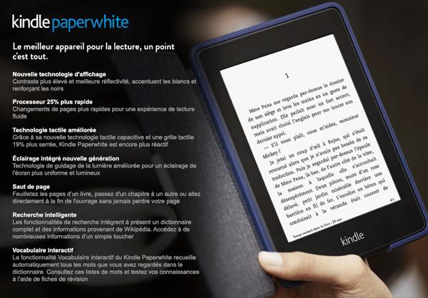 Kindle Paperwhite Amazon gratuit