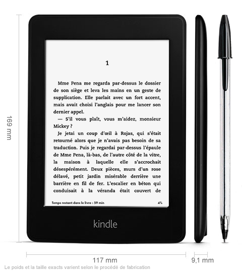 Kindle Paperwhite Amazon taille