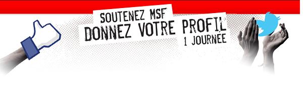 Donner son profil Facebook et Twitter pour Médecins Sans Frontières