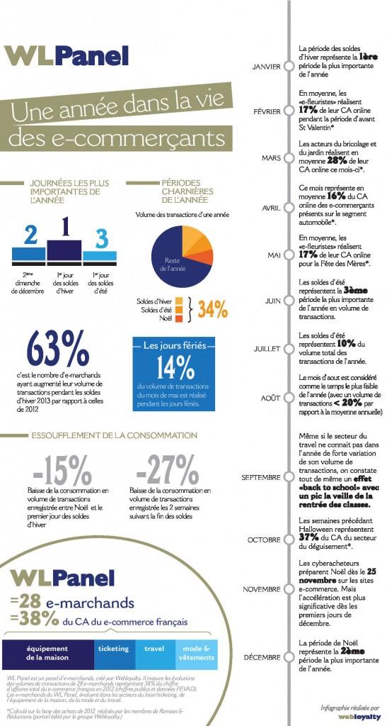 Infographie une année e-commerce
