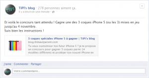 Concours : trois coques iPhone 5 à gagner sur Facebook