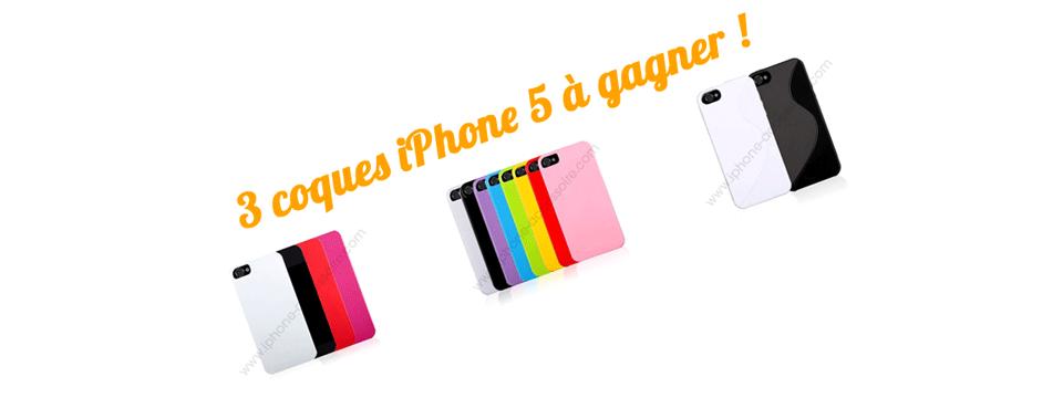 3 chances de gagner une coque iPhone 5