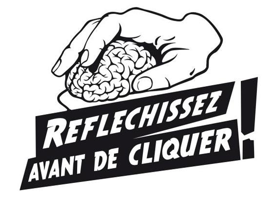 Logo : Réfléchissez avant de cliquer !