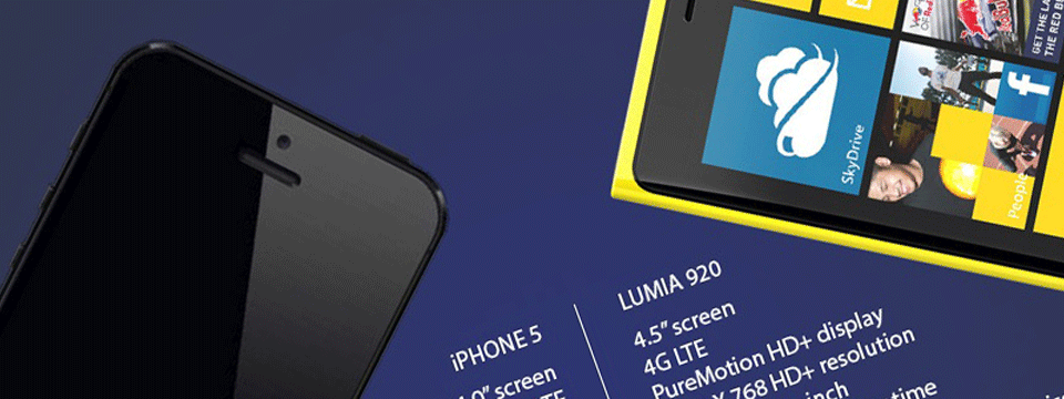 Comparaison entre le Lumia 920 de Nokia et l'iPhone 5 d'Apple