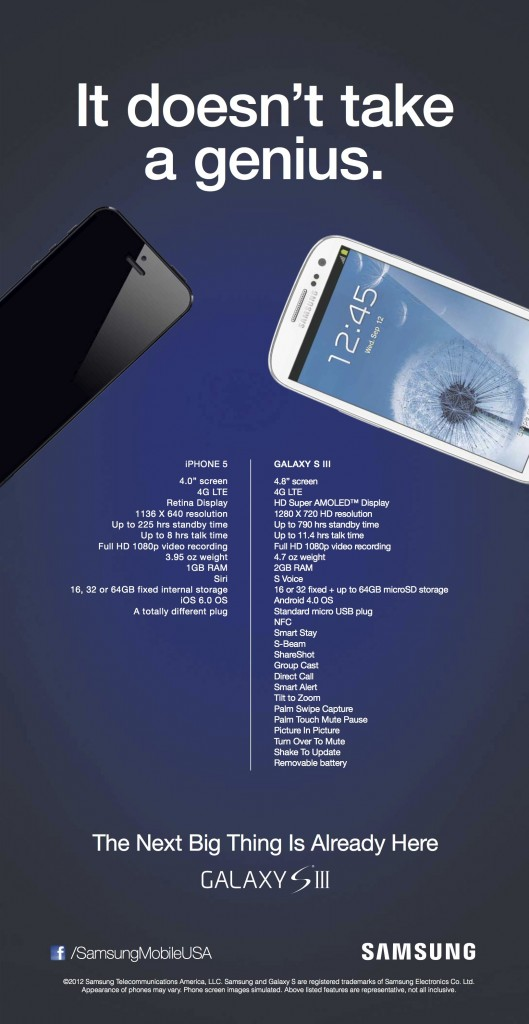 Comparatif entre le nouvel iPhone et le Galaxy SIII