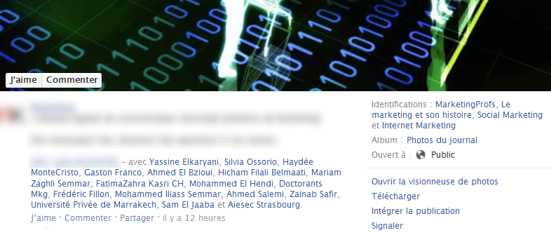 Spam de l'identification sur Facebook