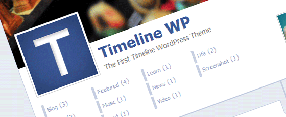 La Timeline Facebook en thème WordPress
