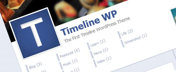 La Timeline Facebook en thème WordPress